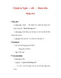 Giáo án Tiếng Việt lớp 3 : Tên bài dạy : Chính tả Nghe – viết : Rước đèn ông sao.