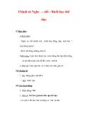 Giáo án Tiếng Việt lớp 3 : Tên bài dạy : Chính tả Nghe – viết : Buổi học thể dục