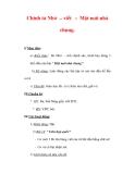 Giáo án Tiếng Việt lớp 3 : Tên bài dạy : Chính tả Nhớ  viết : Một mái nhà chung.
