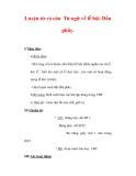 Giáo án Tiếng Việt lớp 3 : Tên bài dạy : Luyện từ và câu Từ ngữ về lễ hội. Dấu phẩy.