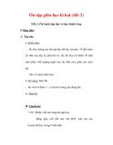 Giáo án Tiếng Việt lớp 3 : Tên bài dạy : Ôn tập giữa học kì hai (tiết 2)