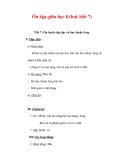 Giáo án Tiếng Việt lớp 3 : Tên bài dạy : Ôn tập giữa học kì hai (tiết 7)