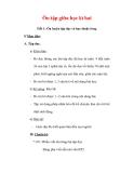 Giáo án Tiếng Việt lớp 3 : Tên bài dạy : Ôn tập giữa học kì hai