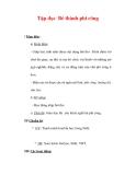 Giáo án Tiếng Việt lớp 3 : Tên bài dạy : Tập đọc Bé thành phi công