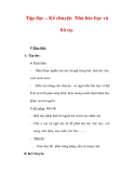 Giáo án Tiếng Việt lớp 3 : Tên bài dạy : Tập đọc – Kể chuyện Nhà bác học và bà cụ.