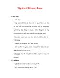 Giáo án Tiếng Việt lớp 3 : Tên bài dạy : Tập đọc Chiếc máy bơm.