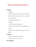 Giáo án Tiếng Việt lớp 3 : Tên bài dạy : Tập đọc Chương trình xiếc đặc sắc.
