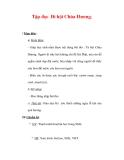 Giáo án Tiếng Việt lớp 3 : Tên bài dạy : Tập đọc Đi hội Chùa Hương.