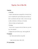 Giáo án Tiếng Việt lớp 3 : Tên bài dạy : Tập đọc Em vẽ Bác Hồ.