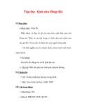 Giáo án Tiếng Việt lớp 3 : Tên bài dạy : Tập đọc Quà của đồng đội.