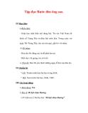 Giáo án Tiếng Việt lớp 3 : Tên bài dạy : Tập đọc Rước đèn ông sao.
