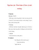 Giáo án Tiếng Việt lớp 3 : Tên bài dạy : Tập làm văn Thảo luận về bảo vệ môi trường