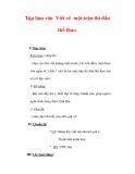 Giáo án Tiếng Việt lớp 3 : Tên bài dạy : Tập làm văn Viết về một trận thi đấu thể thao.