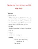 Giáo án Tiếng Việt lớp 3 : Tên bài dạy : Tập làm văn Vươn tới các vì sao. Ghi chép sổ tay.