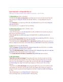 Cách nhận biết 1 số hợp chất hữu cơ