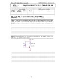 Báo cáo thí nghiệm điện tử tương tự - Bài 5