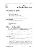 Thí nghiệm điện tử xung số - Bài 1