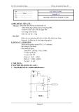 Thí nghiệm kỹ thuật xung - Bài 4