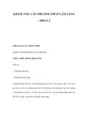 KHÁM TIM: CÁC PHƯƠNG PHÁP LÂM SÀNG (PHẦN 2)