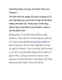 Tìm kiếm trang web ngay trên Start Menu của Windows
