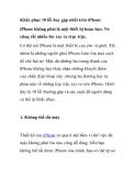 Khắc phục 10 lỗi hay gặp nhất trên iPhone