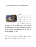 7 cách để ngăn ngừa máy tính bị nhiễm Zombies