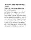 Thay máu phần mềm đọc PDF siêu nhanh cho Windows