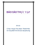 Đề tài: Lễ hội ở huyện Thọ Xuân -Thanh Hóa với việc phát triển du lịch địa phương