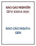 BÁO CÁO NGUỒN GEN