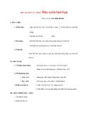 Giáo án lớp 7 môn Âm Nhạc: HỌC BÀI HÁT TỰ CHỌN:Mùa xuân tình bạn