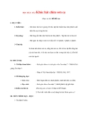 Giáo án lớp 7 môn Âm Nhạc: HỌC HÁT: BÀI Khúc hát chim sơn ca
