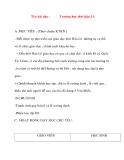 Giáo án lớp 4 môn Lịch Sử: Tên bài dạy :Trường học thời hậu Lê