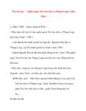 Giáo án lớp 4 môn Lịch Sử: Tên bài dạy : Nghĩa quân Tây Sơn tiến ra Thăng Long ( Năm 1786 )