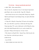 Giáo án lớp 4 môn Lịch Sử: Tên bài dạy : Quang trung đại phá quân thanh