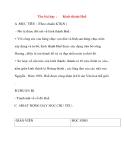 Giáo án lớp 4 môn Lịch Sử: Tên bài dạy :Kinh thành Huế