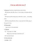 Giáo án Sinh học lớp 6 : Tên bài dạy : Cấu tạo miền hút của rễ