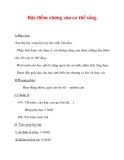 Giáo án Sinh học lớp 6 : Tên bài dạy : Đặc điểm chung của cơ thể sống