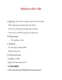 Giáo án Sinh học lớp 6 : Tên bài dạy : Kiểm tra viết 1 tiết