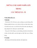 Giáo án Lịch sử lớp 6 : Tên bài dạy : NHỮNG CUỘC KHỞI NGHĨA LỚN TRONG CÁC THẾ KỈ VII – IX
