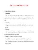 Giáo án Lịch sử lớp 6 : Tên bài dạy : ÔN TẬP CHƯƠNG I VÀ II