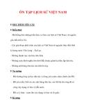 Giáo án Lịch sử lớp 6 : Tên bài dạy : ÔN TẬP LỊCH SỬ VIỆT NAM
