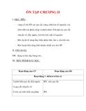 Giáo án môn Toán lớp 6 : Tên bài dạy : ÔN TẬP CHƯƠNG II