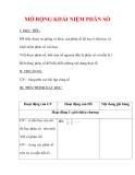 Giáo án môn Toán lớp 6 : Tên bài dạy : MỞ RỘNG KHÁI NIỆM PHÂN SỐ