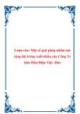Luận văn: Một số giải pháp nhằm mở rộng thị trờng xuất khẩu của Công Ty Que Hàn Điện Việt -Đức