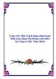 Luận văn: Một số giải pháp nhằm hoàn thiện hoạt động Marketing xuất khẩu tại Công ty Giầy Thụy Khuê