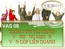 Thông tin tài chính về những khoản góp liên doanh - VAS 08