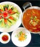Lẩu gà chua cay Thịt gà có thể nấu được nhiều món ngon. PNO xin giới thiệu