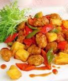 Thịt chiên xốt dứa chua ngọt