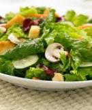Salad đu đủ, dưa lưới và xoài tuyệt ngon