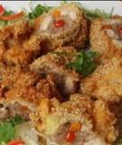 Cánh gà rút xương tẩm mè